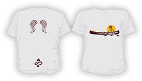四万十塾×Coleman コラボTシャツ white